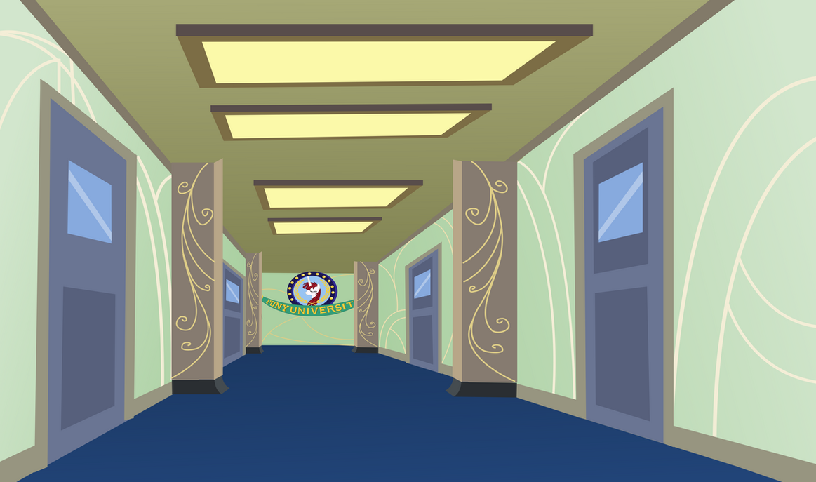 Hallway shot by Vector-Brony