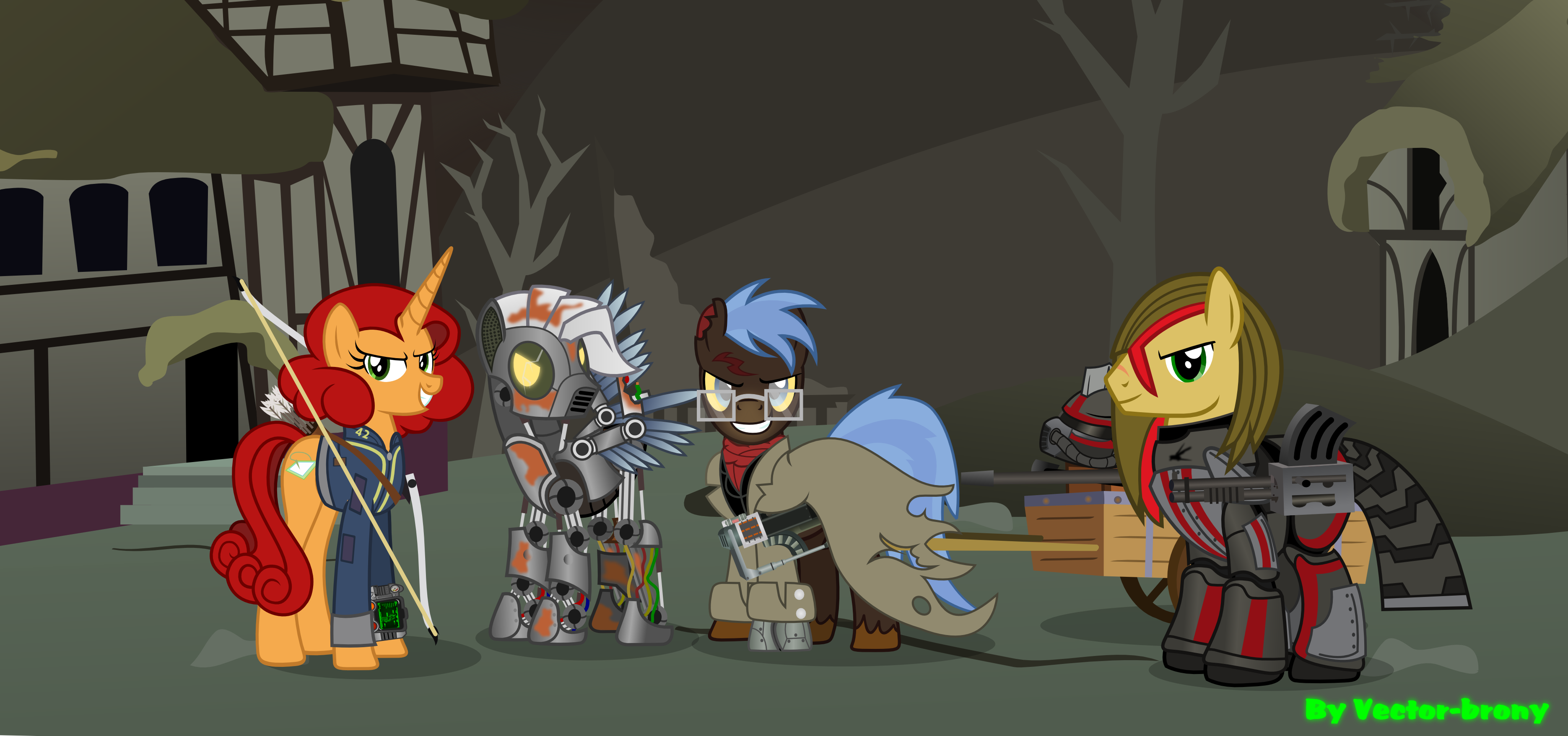 Art Fallout 2014  >> Fallout Equestria Team Any By Vector Brony On Deviantart