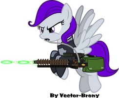 Morning Glory with her AER-14 by Vector-Brony