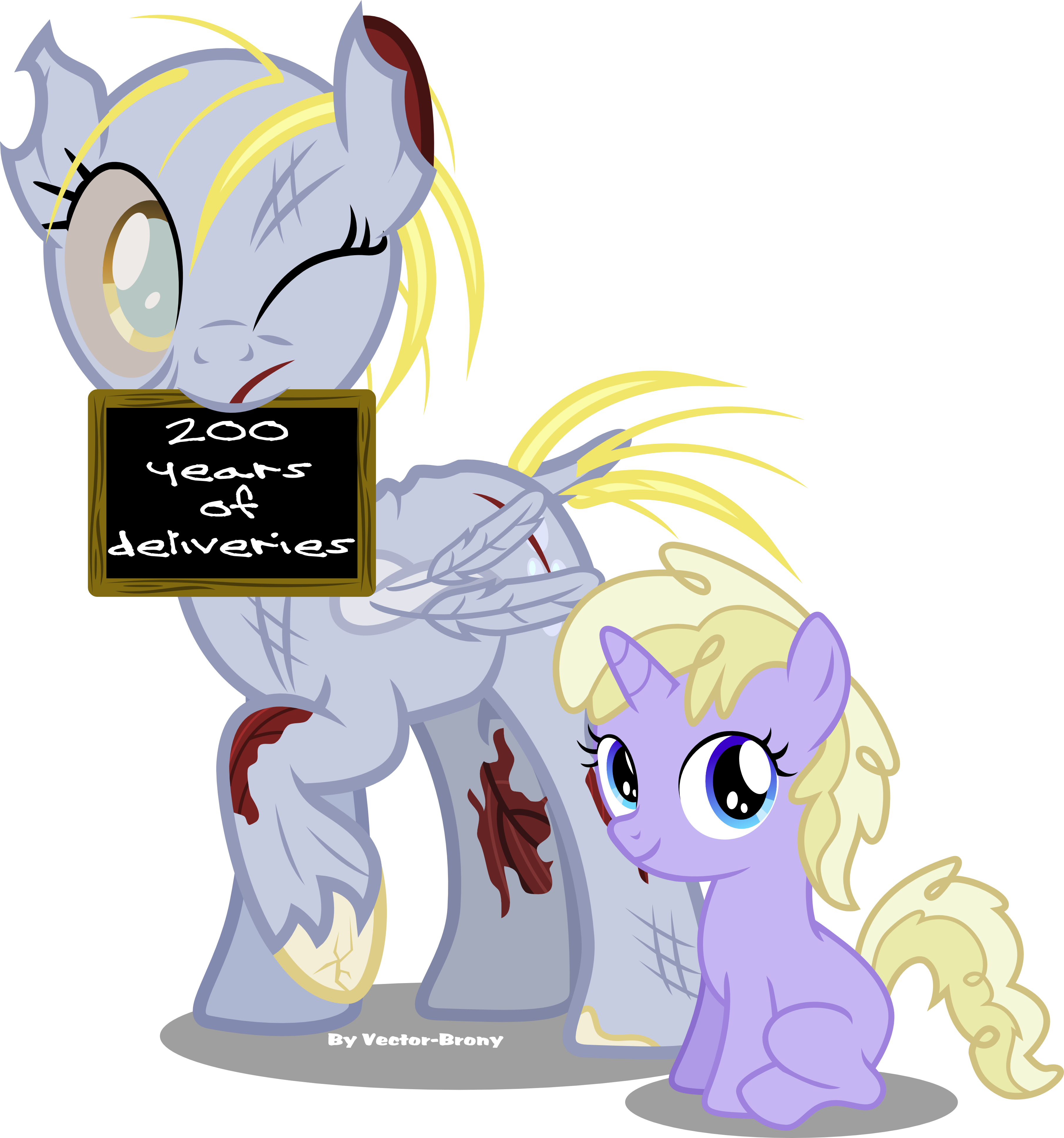 Derpy and Silver Belle