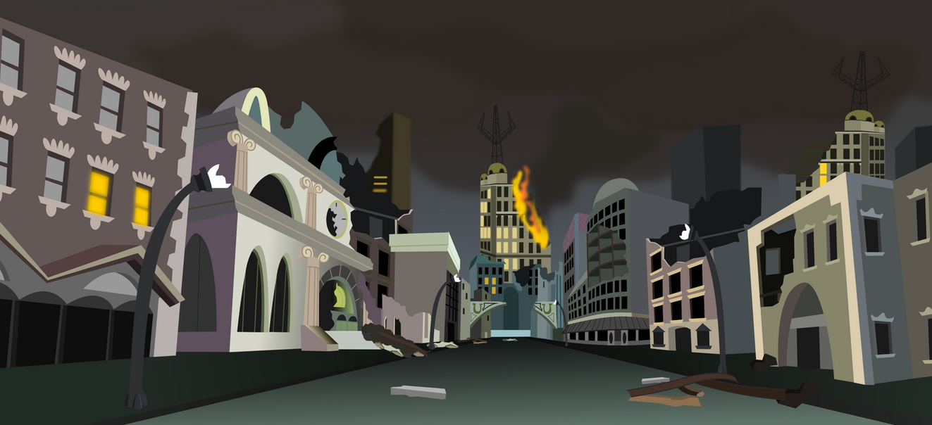 Manehatten Ruins (fallout Equestria) by Vector-Brony