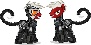 Operative Lighthooves with and without his helmet