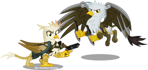 Reggie (Regina) and Kage Grimfeathers