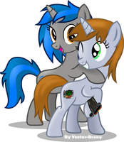 Little Pip and Homage by Vector-Brony