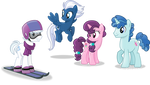 Four good friends. by Vector-Brony