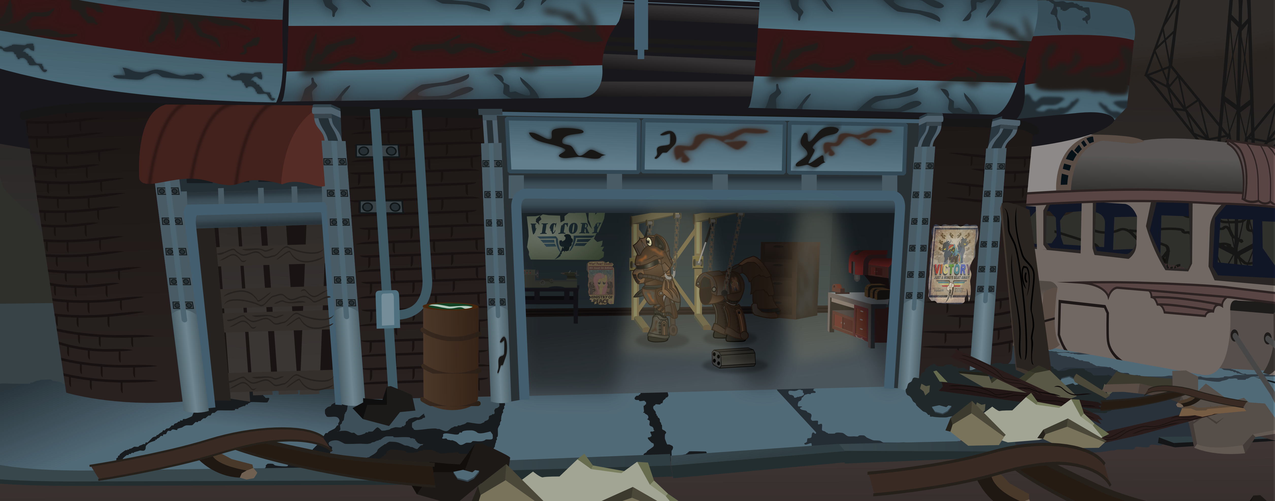 FALLOUT 4 Red Rocket Station By Vector Brony