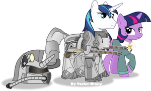 Shining armour and Ministry twilight by Vector-Brony