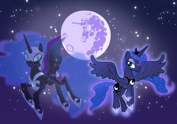 Princess Luna and Nightmare Moon by Vector-Brony