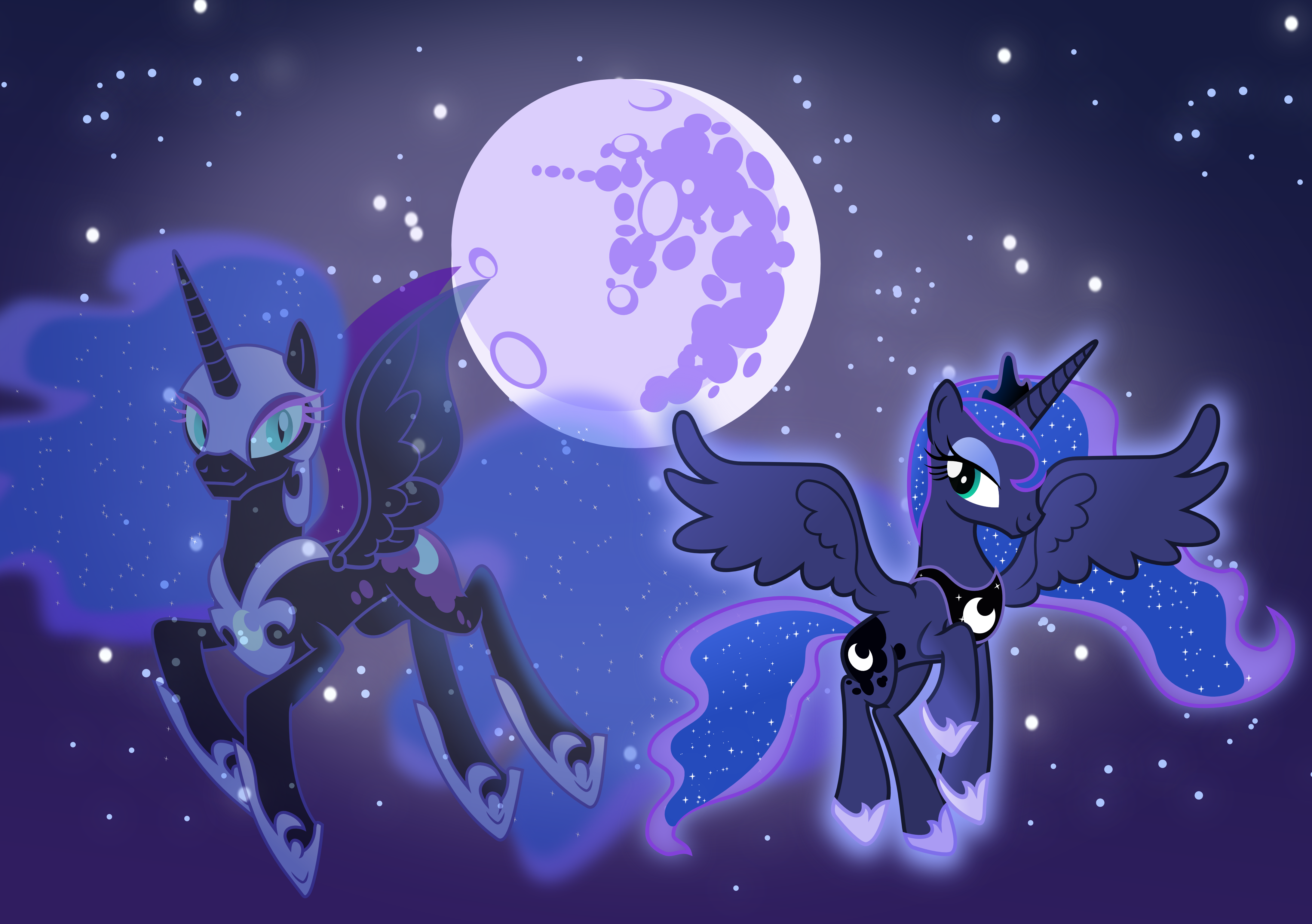 Princess Luna and Nightmare Moon by Vector-Brony on DeviantArt