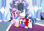 Shining Armour, Cadance and Flurryheart family pic