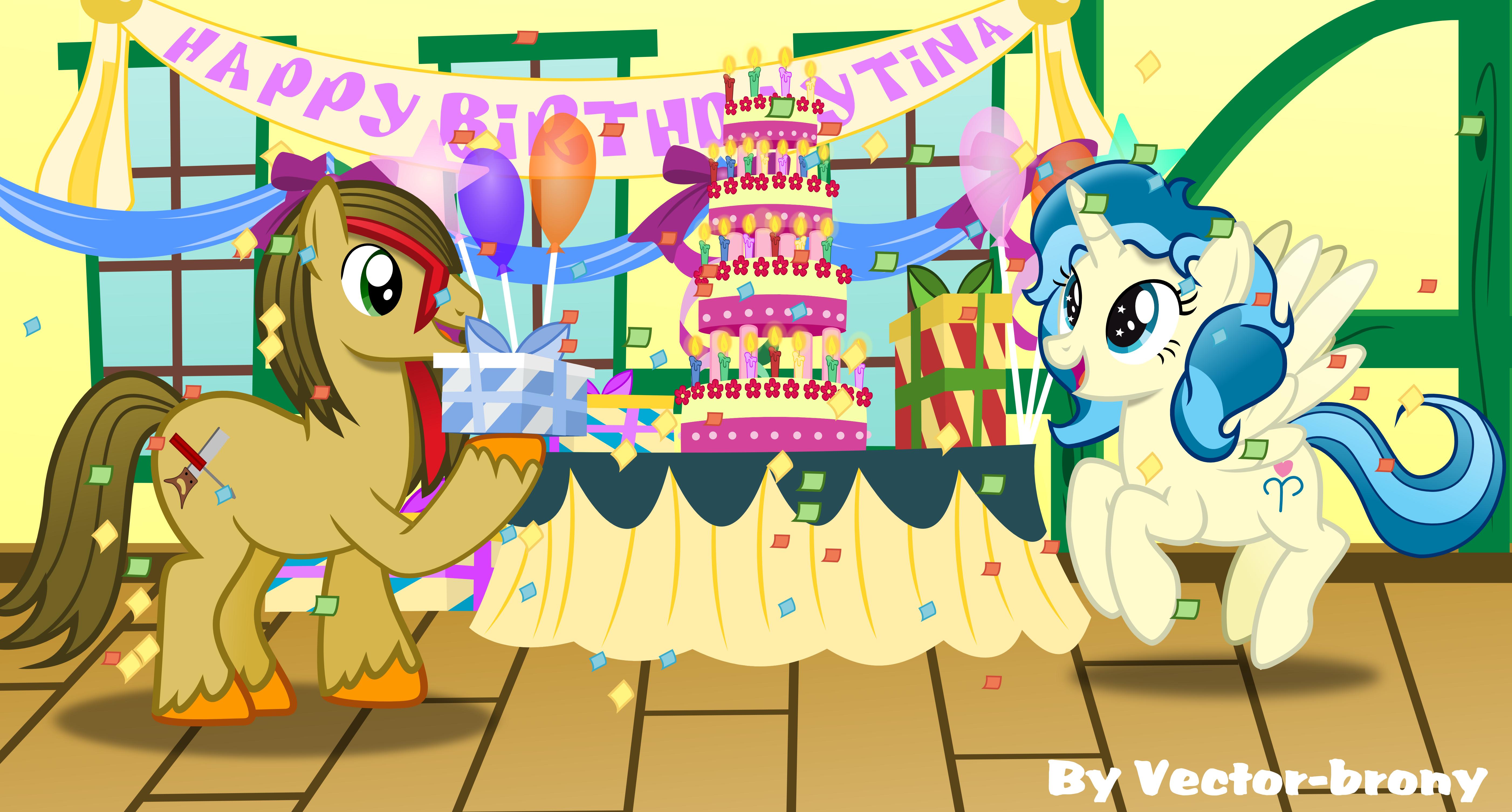 Happy Birthday Tina By Vector Brony