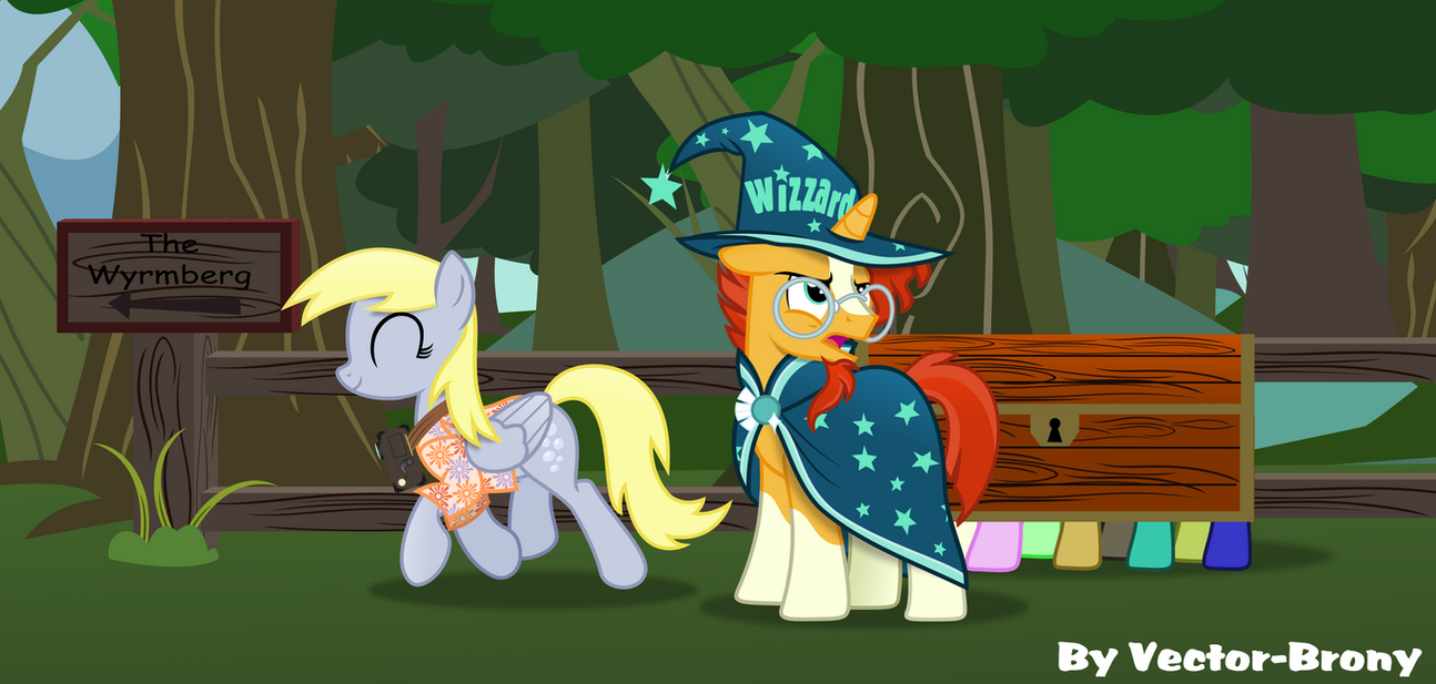 Sunburst and the Tourist by Vector-Brony