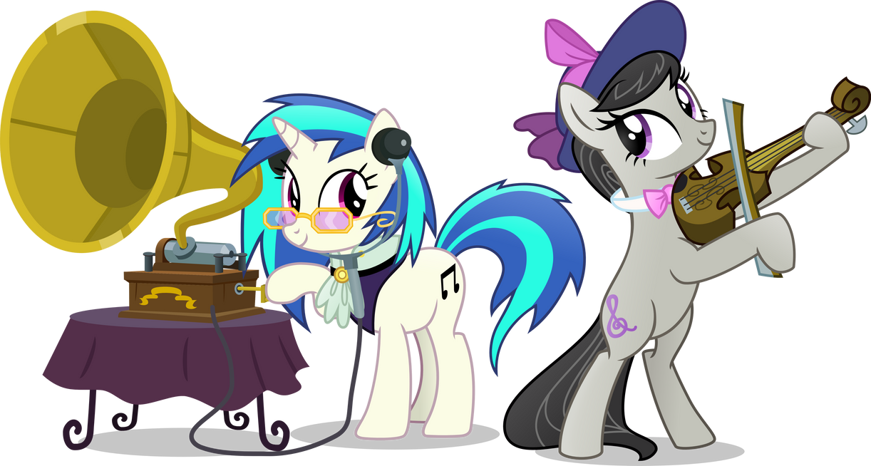 vinyl_and_octavia_old_school_by_vector_b