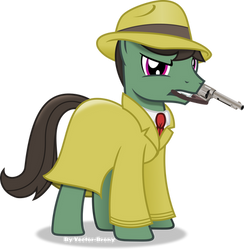 The mysterious stallion by Vector-Brony
