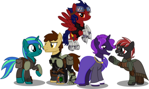 FOE Hidden Valley crew by Vector-Brony