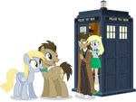 Doctor Whooves and Derpy meet the Doctor and Derpy
