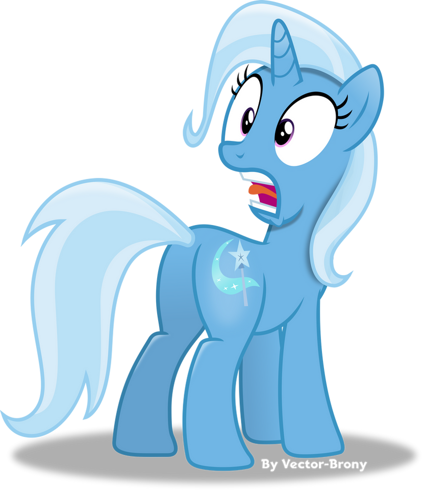Trixie scared by Vector-Brony