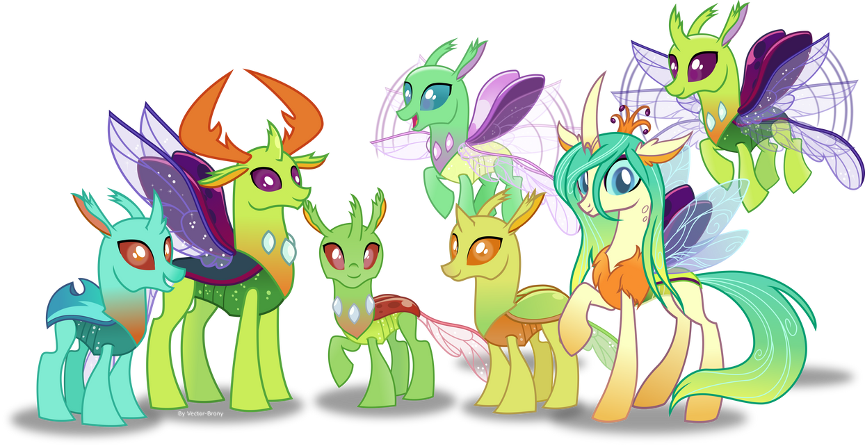 The reformed changelings by Vector-Brony