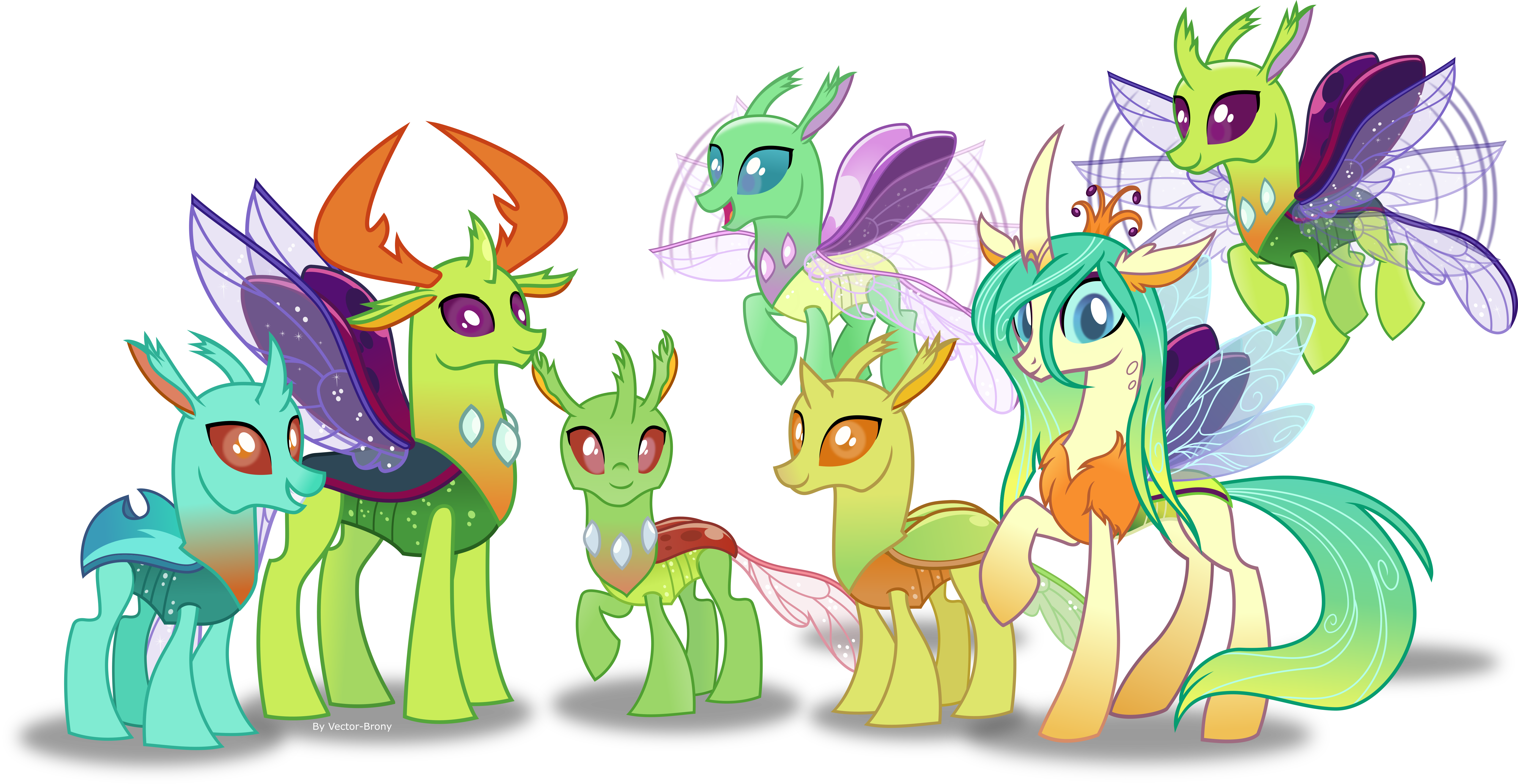 The Reformed Changelings By Vector Brony On DeviantArt