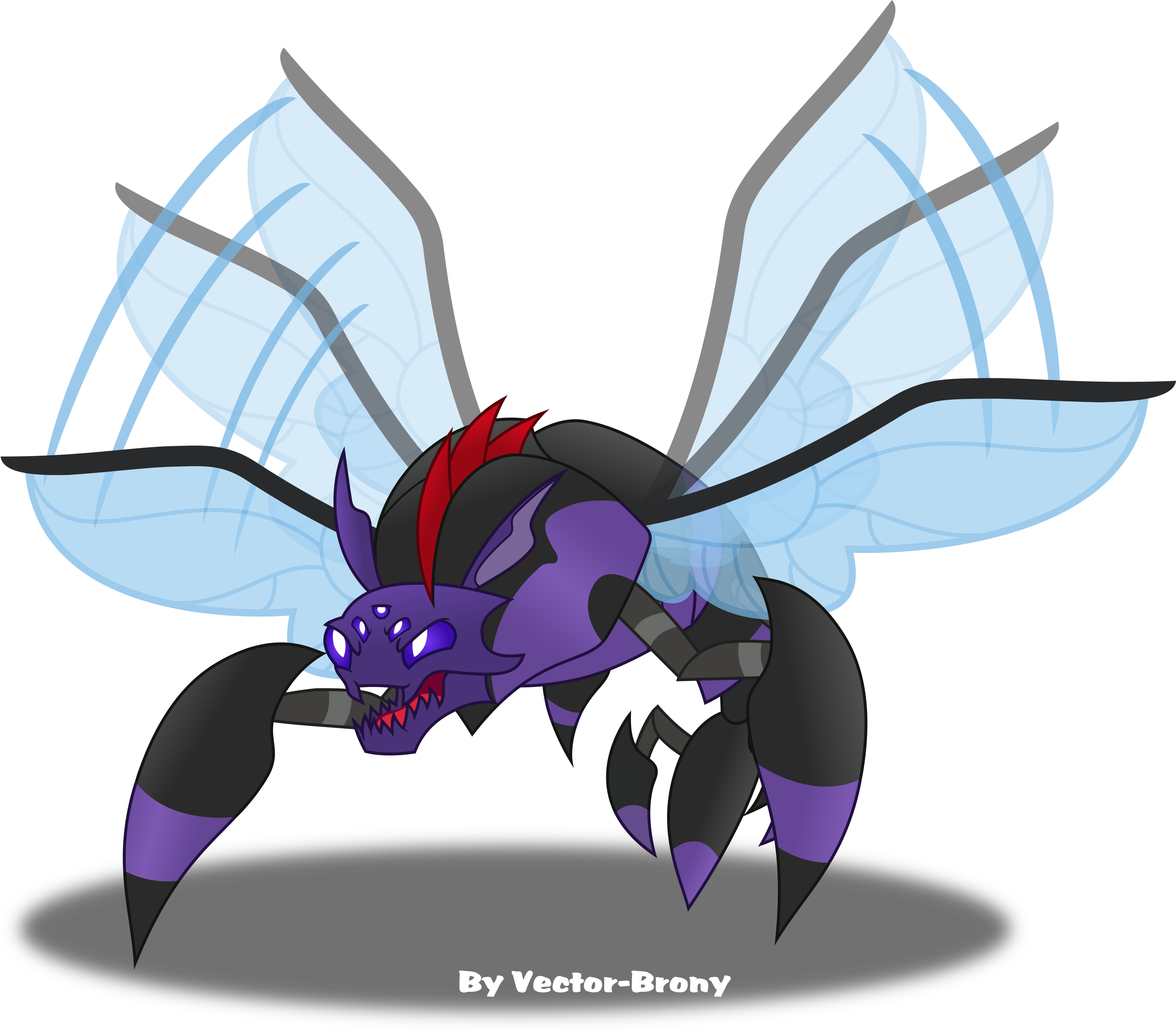 Pharynx Bug form by Vector-Brony