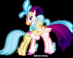 Queen Novo and Princess Skystar by Vector-Brony