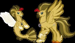 Vector Hippogryth and sea stallion