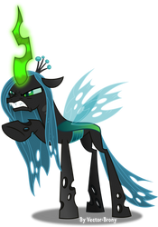 Queen Chrysalis threatening by Vector-Brony