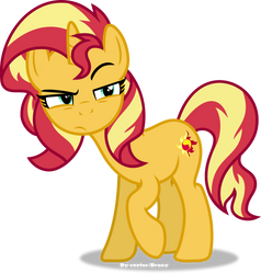 Sunset Shimmer suspicious by Vector-Brony