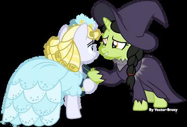 Glinda and Elphaba by Vector-Brony