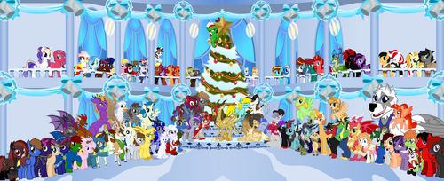 2019 Holiday group picture by Vector-Brony