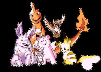 Team So Far: Pokemon Red Nuzlocke by WulfWhistle