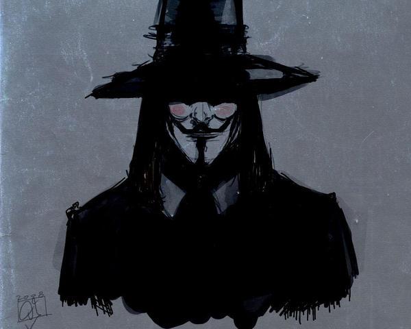 V For Vendetta Sketch for vendetta by Arcadi...