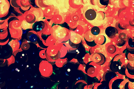 Fire Circles Abstract Art