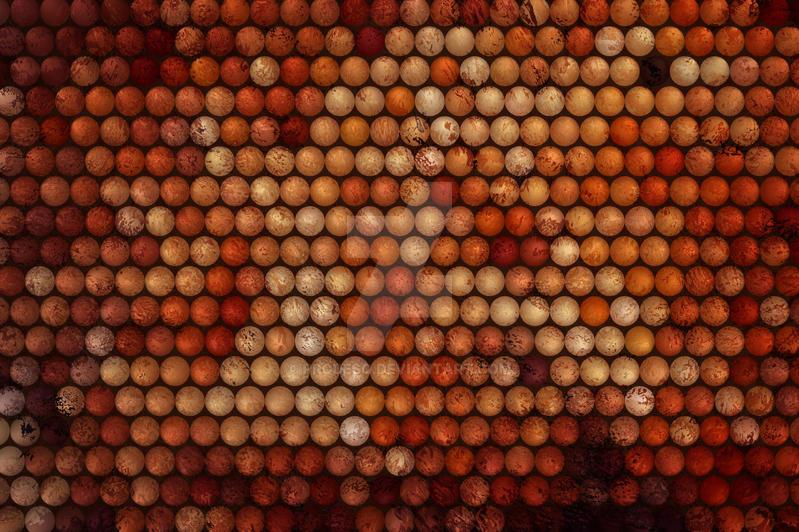 Grunge Planeto Circles Art Work by ProDeSq
