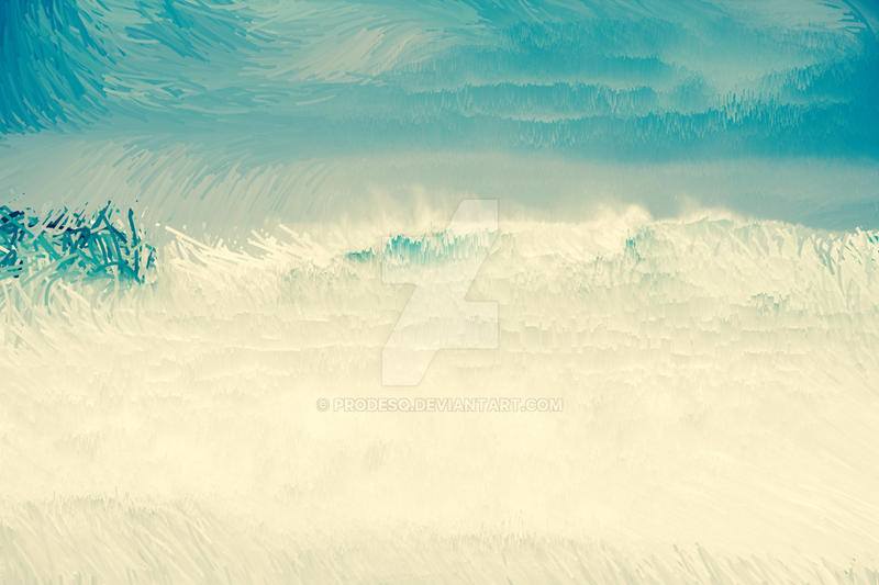 Digital Sea Shore Abstract Paint Art by ProDeSq