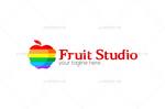 Colorful Slice Fruit Logo Template