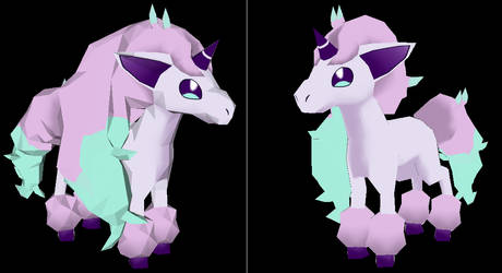 Galarian Ponyta papercraft Model