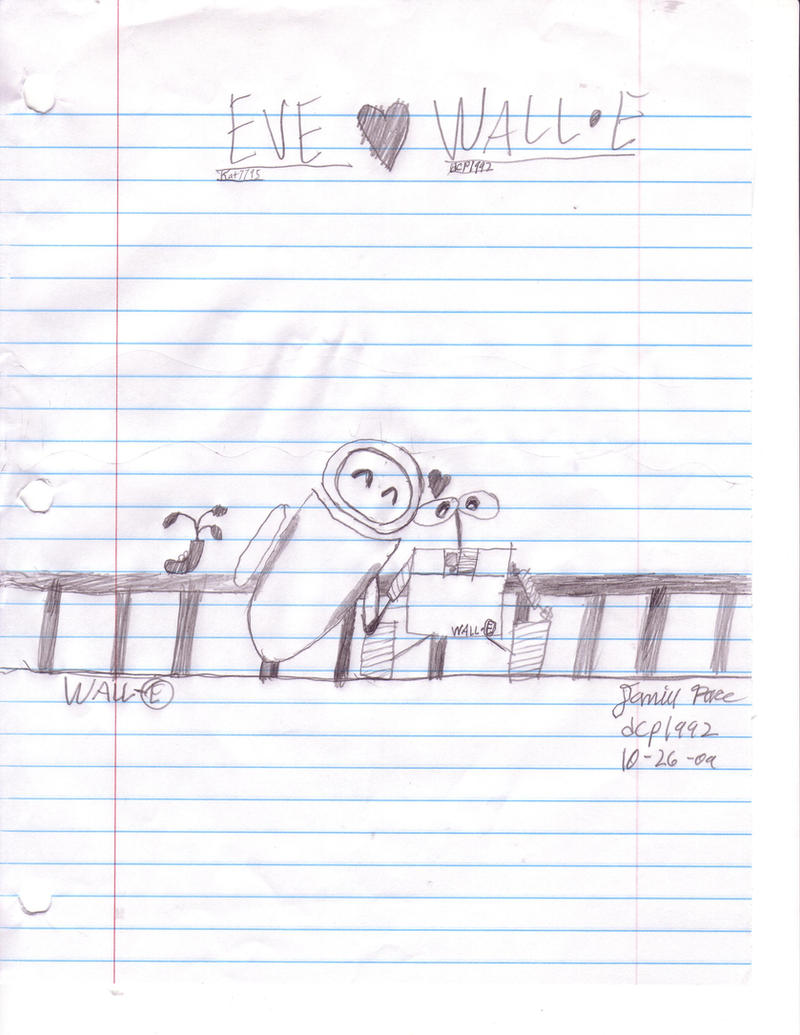 WALL-E and EVE. WALL_E_X_EVE_by_dcp1992