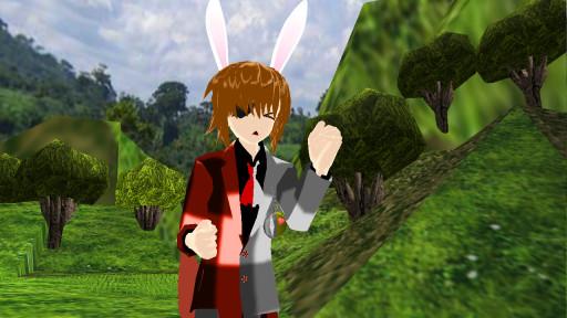 IM LATE nc white rabbit by LameAssSoap