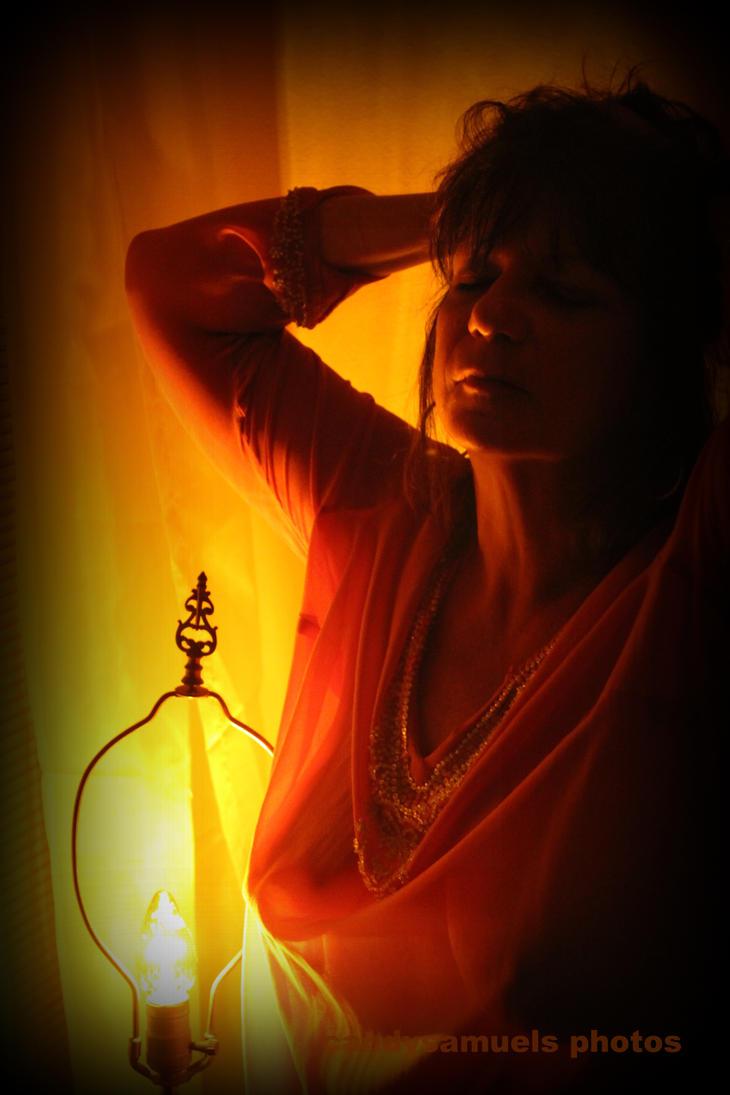 Dark room with light bulb - Light Bulb In A