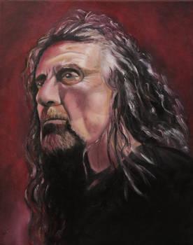 Robert Plant oil painting