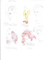 Disney characters :3 (and titi)