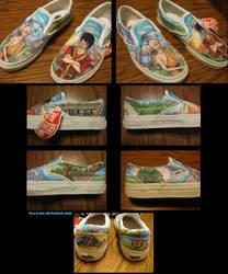 Avatar Shoes: Aang and Zuko by tess-a-roo
