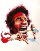 Jimi Hendrix by waldron1