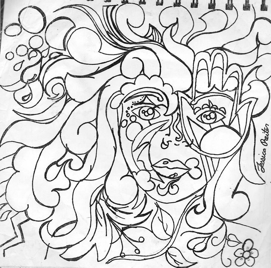 mother nature line art by jessajakejimjam on deviantart