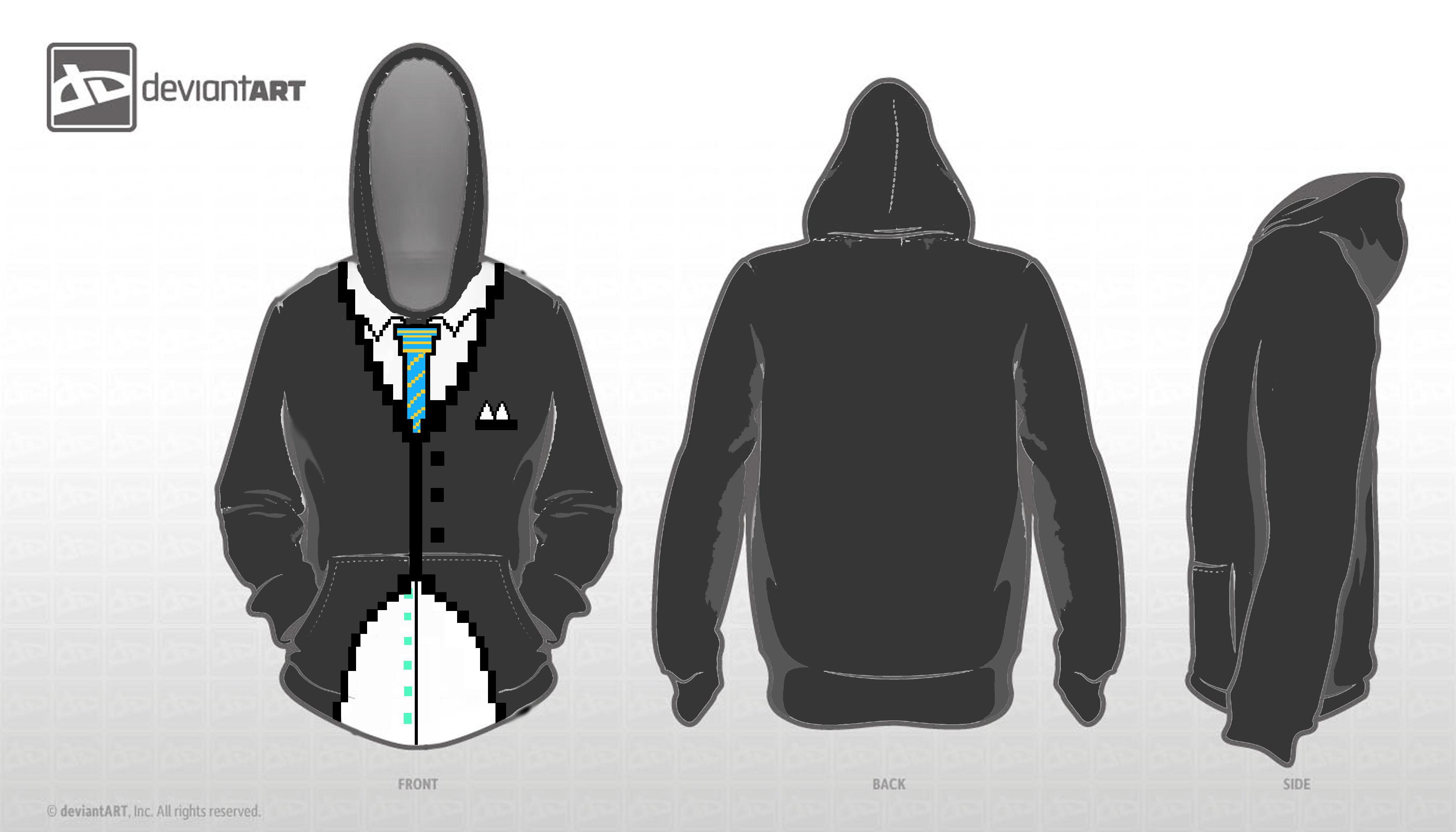 8-BIt Suit Sweatshirt by Ichi-BanOtakuSML8500