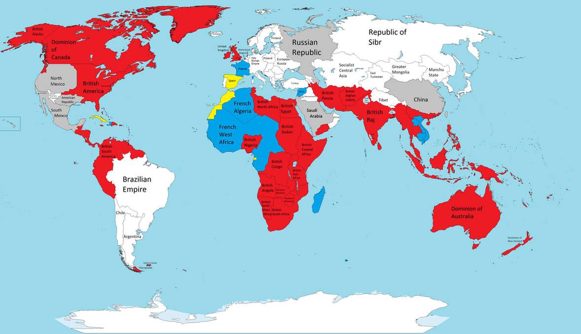 Map Of British Empire British Empire map by Duke Nidhoggr on DeviantArt