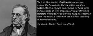 Sir Charles Napier on Sati
