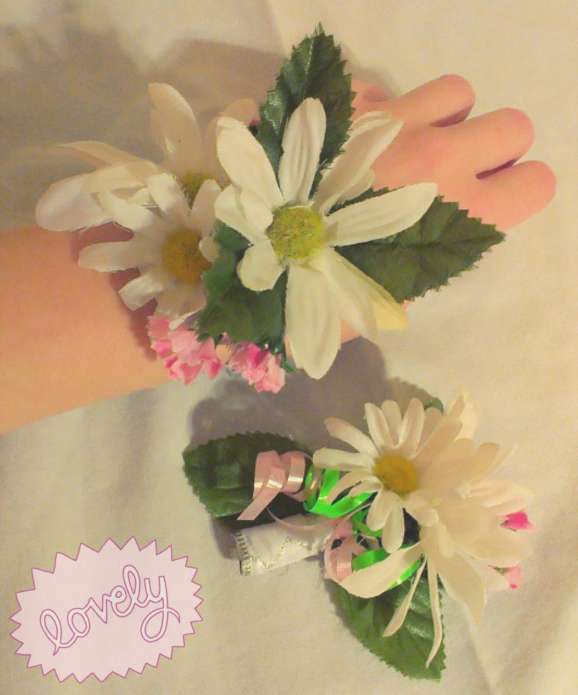 Homemade Corsage and Boutonniere by KAWAIIQU33N