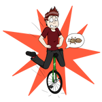 Tre Cool's unicycle accident by MetalAndLollipops